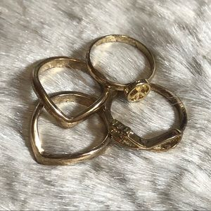 💸$5 Add On💸 Gold Midi Ring Set